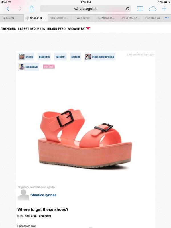 shoes pink platform sandals