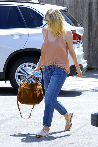 top jeans dakota fanning purse sandals