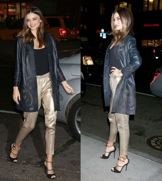 sandals coat faux leather miranda kerr leather