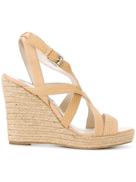 MICHAEL Michael Kors strappy women sandals wedge sandals leather nude shoes