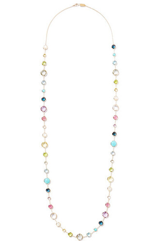 stone necklace rock candy necklace gold jewels