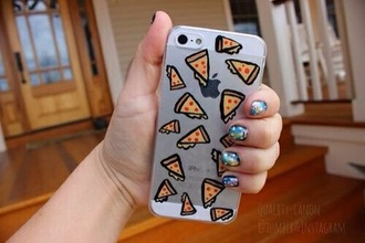 phone cover pizza iphone case clear iphone 5 case iphone 5s iphone 6 case cover cute tumblr white phone
