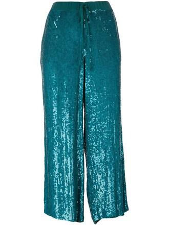 culottes women blue pants