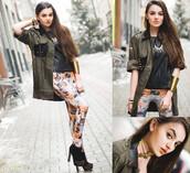 pants,tights,cats,jewels,jacket,shirt