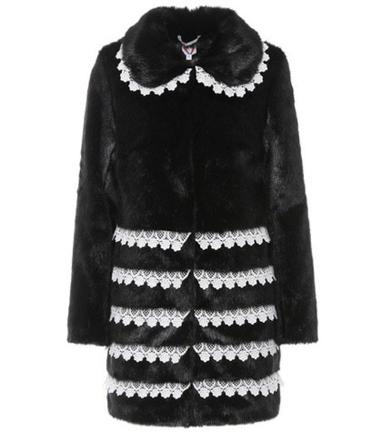 Shrimps coat faux fur coat fur coat fur faux fur black
