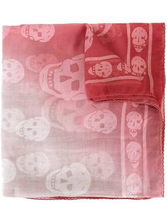skull women scarf purple pink