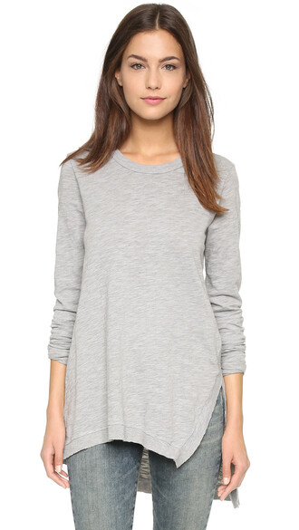 tunic asymmetrical grey top