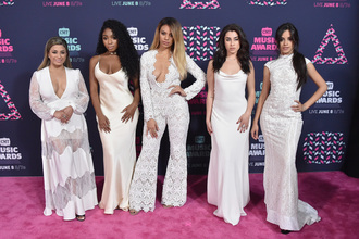 dress gown prom dress wedding dress wedding clothes wedding long dress long prom dress jumpsuit lace dress lace white white dress all white everything fifth harmony camila cabello lauren jauregui dinah hansen dinah jane hansen ally brooke normani hamilton