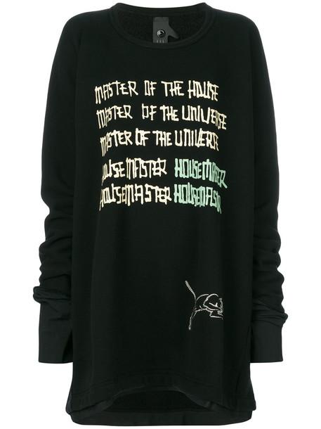 Bernhard Willhelm - Master Of The Universe sweatshirt - women - Cotton - M, Black, Cotton