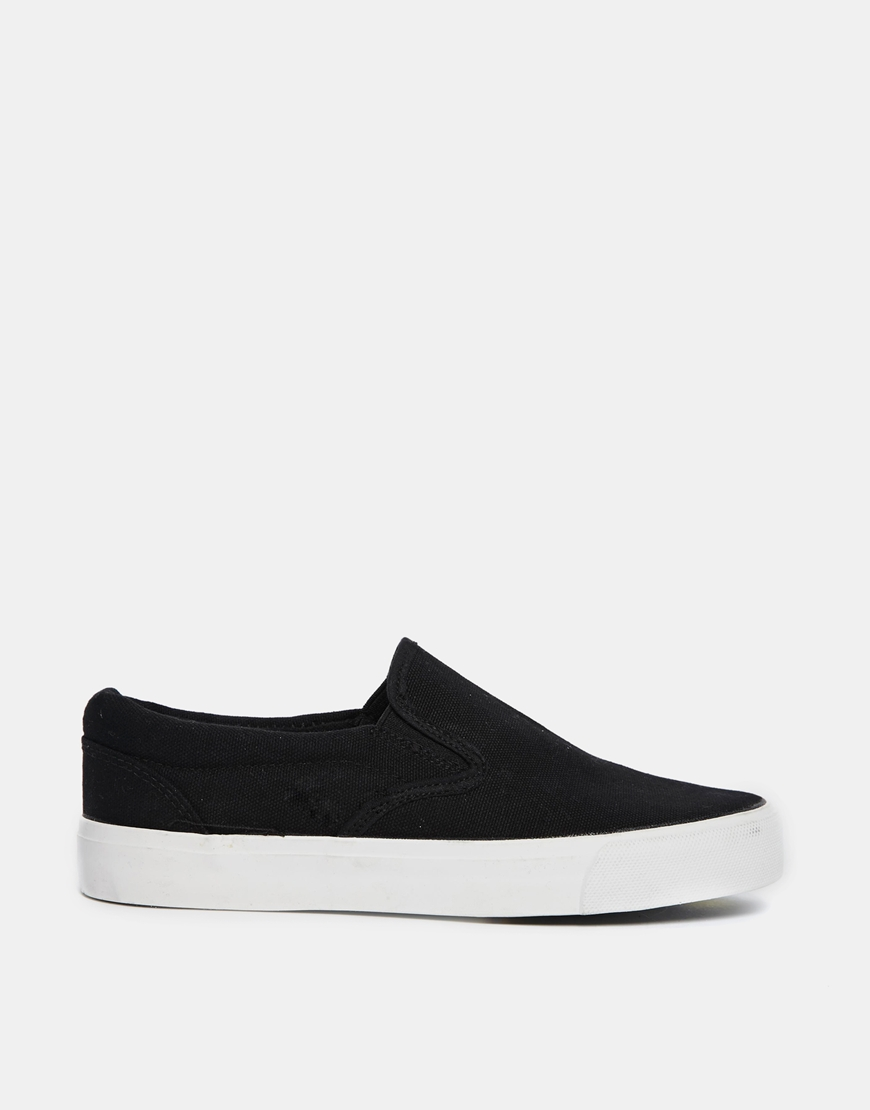 New Look Manse Black Slip On Trainers at asos.com
