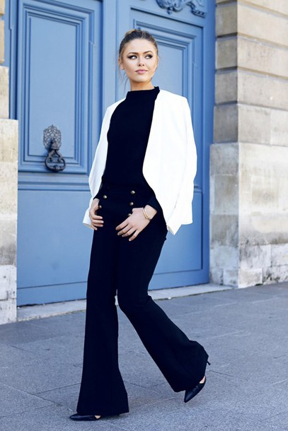 a44efce04d jacket winter date night outfit date outfit white jacket top black top  pants black pants wide