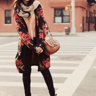 cardigan wool fashion flowered shorts black black jeans cute warm seethrough underwear sweater
