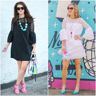 brightonabudget blogger dress shoes bag jewels sunglasses black dress summer dress sandals clutch handbag summer outfits