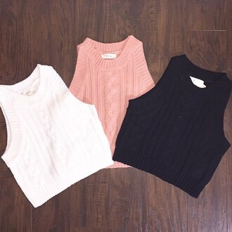 shirt crop tops pastel knit sweater