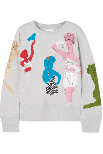sweatshirt beaded cotton sweater