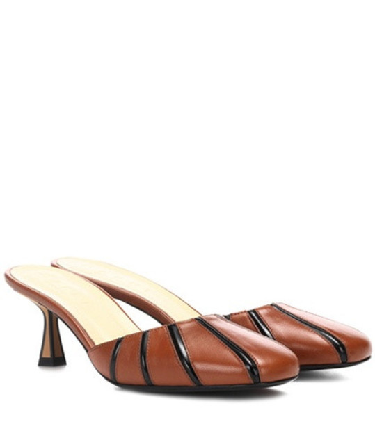 Marni Leather mules in brown