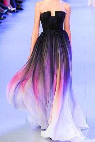 dress black ombre long dress