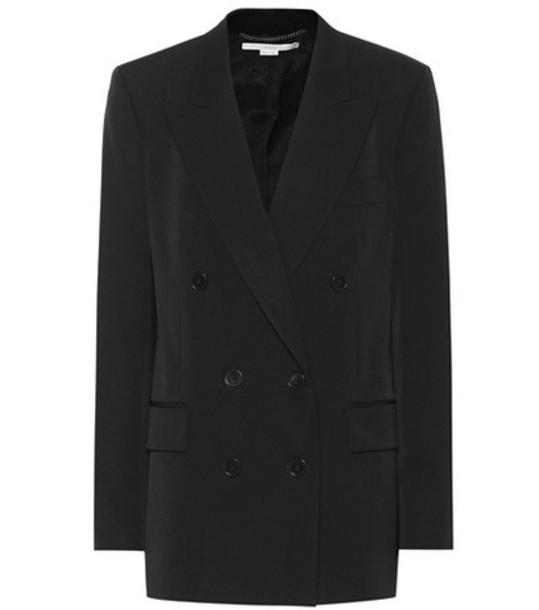 Stella McCartney Double-breasted wool blazer in black