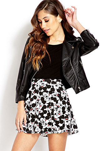 Hey Mickey Skater Skirt | FOREVER21 - 2000125586