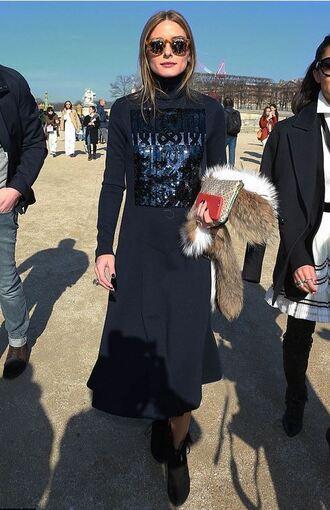dress olivia palermo fashion week 2015 midi dress