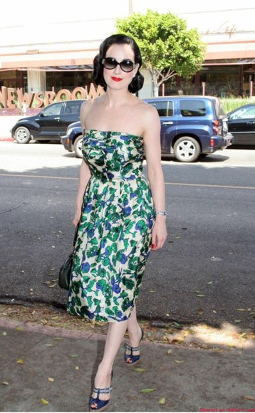 dress 1950s vintage dita von teese summer outfits