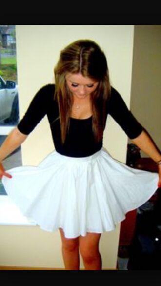dress mini skirt blue skirt black top fluffy style summer dress