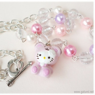 jewels kawaii cute hello kitty hello kitty necklace necklace cute necklace