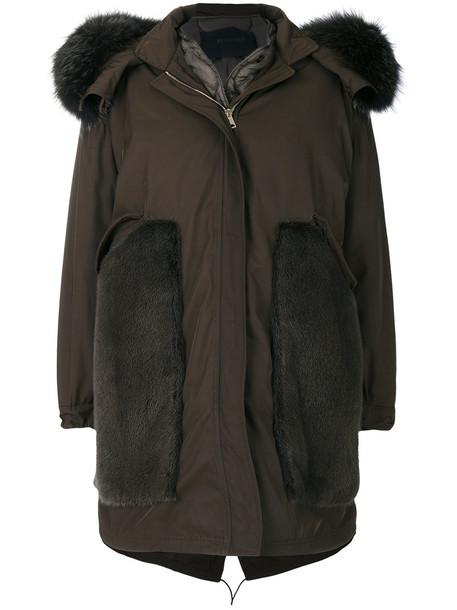 BLANCHA coat parka fur fox women green