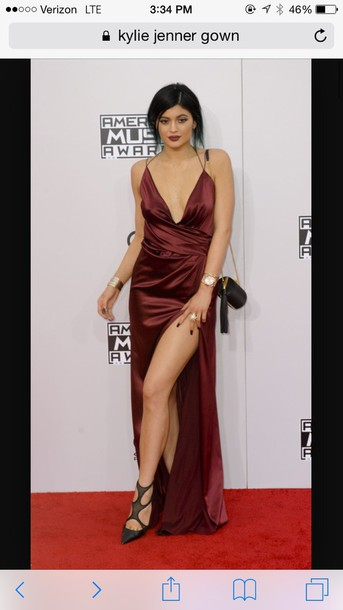 dress red dress red kylie jenner silk gorgeous