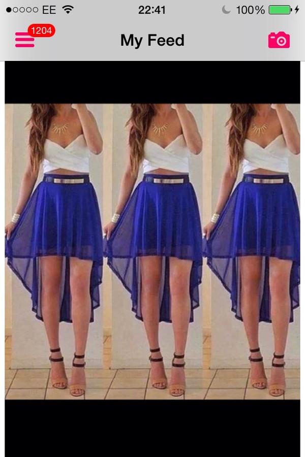 skirt belt blouse