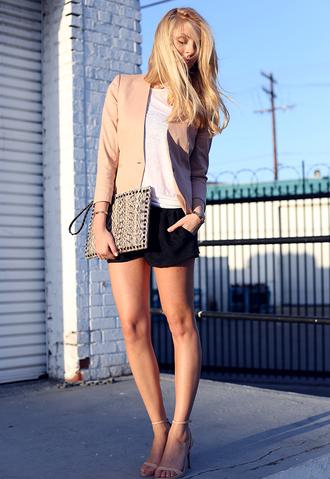cheyenne meets chanel tank top shorts shoes bag jacket
