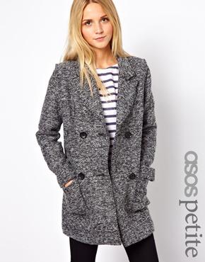 ASOS Petite | ASOS PETITE Exclusive Double Breasted Coat at ASOS