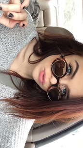 sunglasses,heart,brown,retro,round sunglasses,heart sunglasses,acacia brinley
