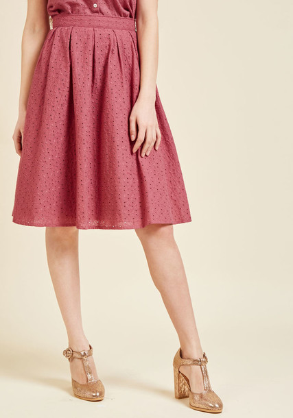 MCB1108 skirt midi skirt midi classic floral cotton red