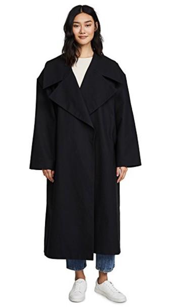 A.W.A.K.E. coat oversized coat oversized black