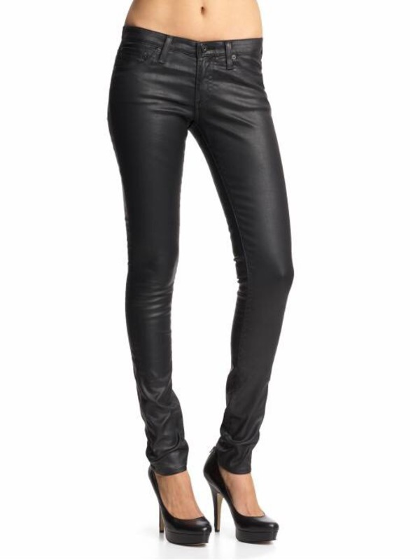 faux leather jeans