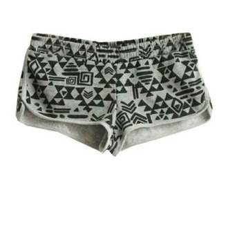pajamas gray shorts pajama shorts tribal pattern