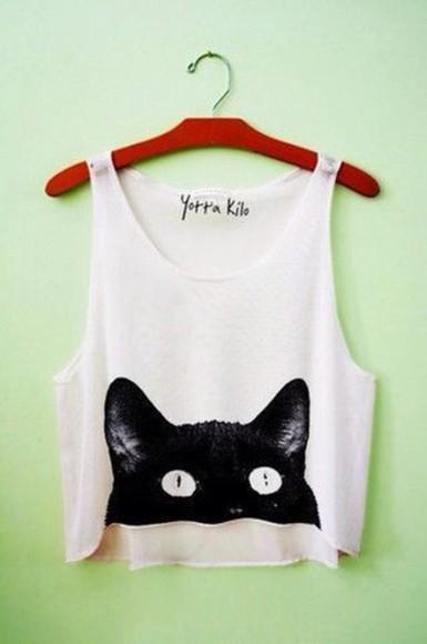 shirt tank top cats