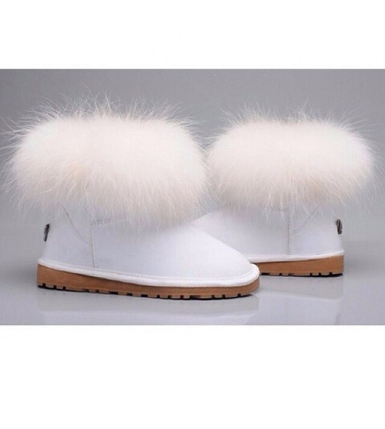 shoes ugg boots white boots furry uggs uggs mini fox fur
