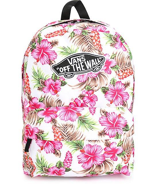 vans realm hawaiian natural backpack
