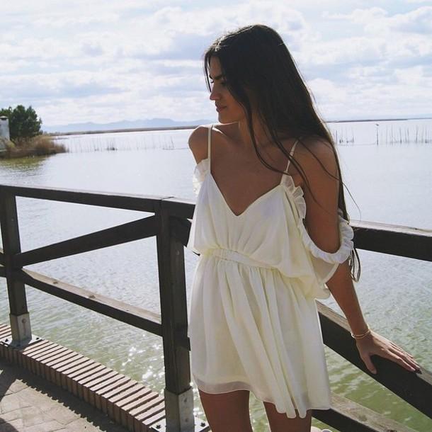 dress white dress blouse summer dress