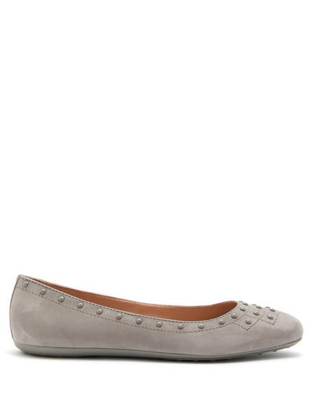 studded ballet flats ballet flats leather grey shoes