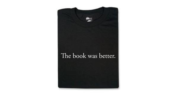 t-shirt the book was better nerd geek book the book wast better t-shirt hipster wishlist shirt book black black t-shirt black shirt graphic tee graphic shirt