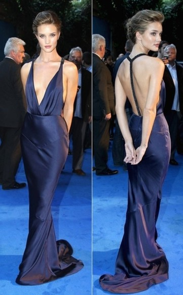 dress maxi dress blue dress beautiful rosie huntington-whitley blue maxi dress open back