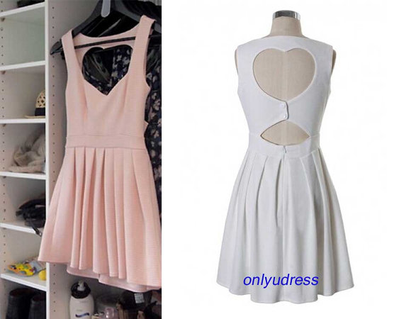 Short homecoming dresses cut out heart sexy by onlyudress on etsy