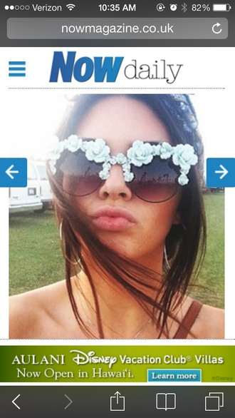 sunglasses baby blue kendall jenner