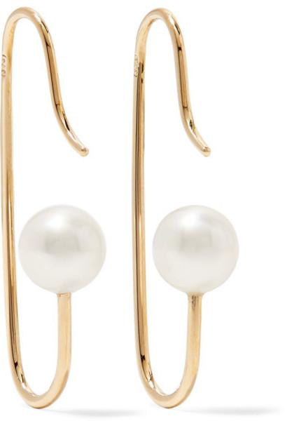 Natasha Schweitzer pearl earrings mini pearl earrings gold jewels
