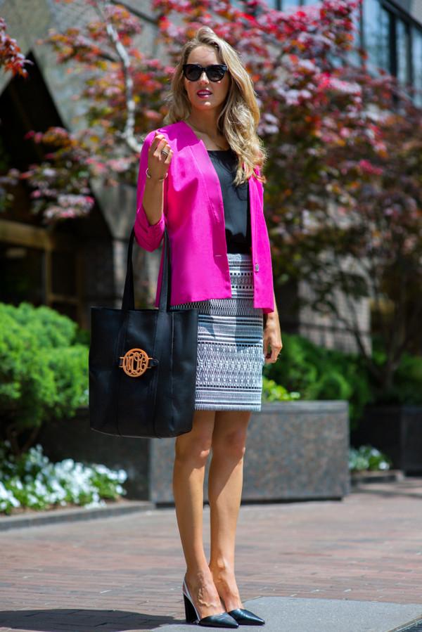 86663386908e the classy cubicle skirt jacket t-shirt shoes jewels bag sunglasses.