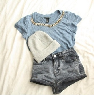 jeans belt blouse hat shirt like the hole outfit cute blouse blue shirt t-shirt skirt shorts