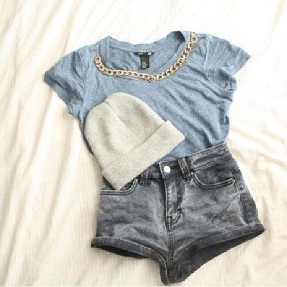 blouse the like hole outfit cute cute blouse blue shirt jeans Belt shirt